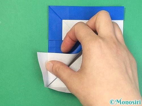 折り紙でアルファベットのFの折り方手順22
