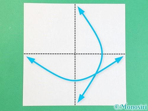 折り紙でアルファベットのJの折り方手順1