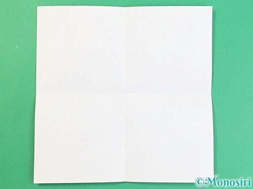 折り紙でアルファベットのJの折り方手順2