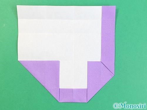 折り紙でアルファベットのJの折り方手順14