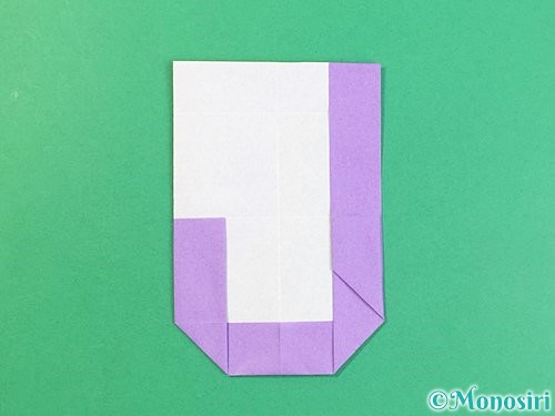 折り紙でアルファベットのJの折り方手順20