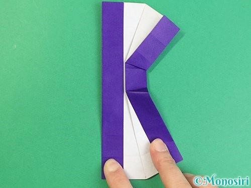 折り紙でアルファベットのKの折り方手順34