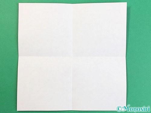 折り紙でアルファベットのQの折り方手順2