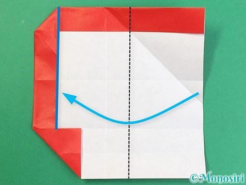 折り紙でアルファベットのQの折り方手順19