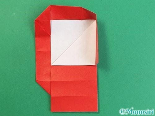 折り紙でアルファベットのQの折り方手順22