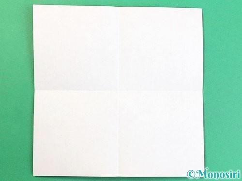 折り紙でアルファベットのUの折り方手順2