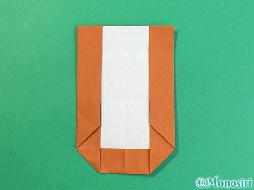 折り紙でアルファベットのUの折り方手順18