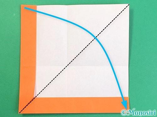 折り紙でアルファベットのVの折り方手順15