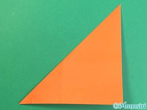 折り紙でアルファベットのVの折り方手順16