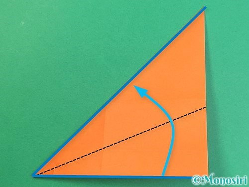 折り紙でアルファベットのVの折り方手順17