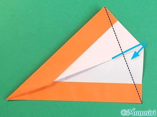 折り紙でアルファベットのVの折り方手順21