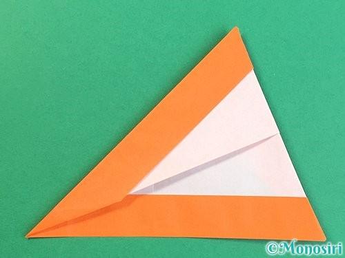 折り紙でアルファベットのVの折り方手順22