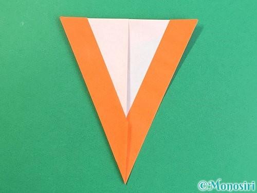 折り紙でアルファベットのVの折り方手順23