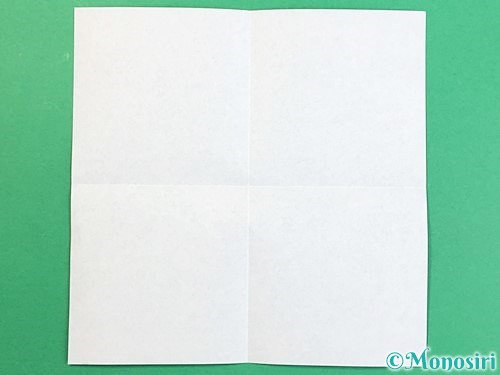 折り紙でアルファベットのXの折り方手順2