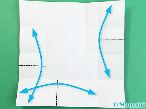 折り紙でアルファベットのXの折り方手順10