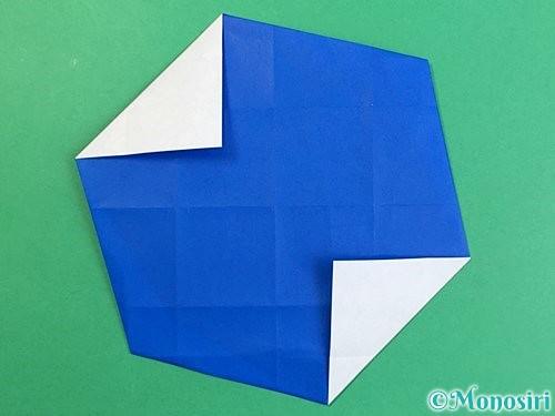 折り紙でアルファベットのXの折り方手順22