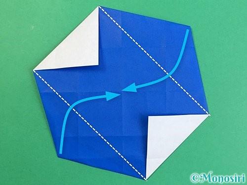 折り紙でアルファベットのXの折り方手順23