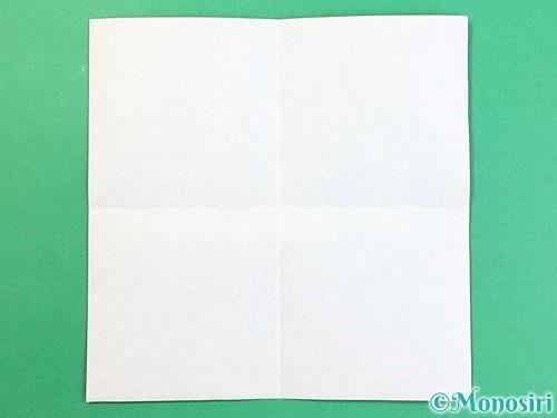 折り紙でアルファベットのZの折り方手順2