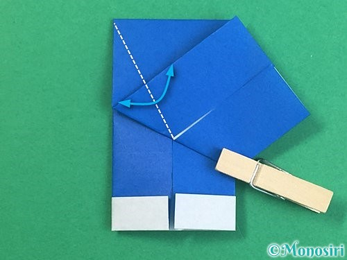 折り紙で手袋の折り方手順15