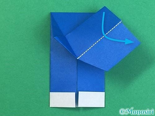 折り紙で手袋の折り方手順17