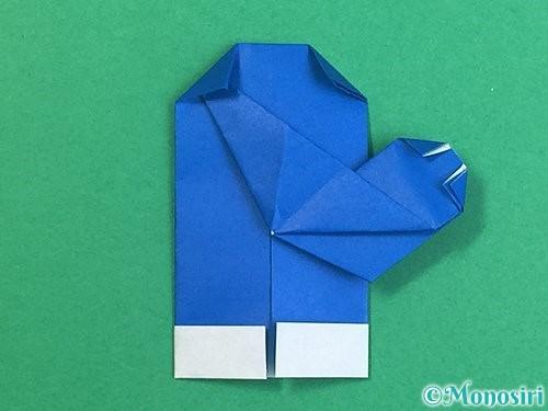 折り紙で手袋の折り方手順23