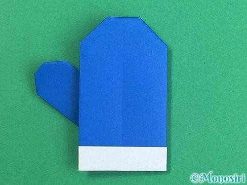 折り紙で手袋の折り方手順24