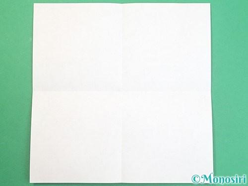 折り紙でふた付きの箱の折り方手順2
