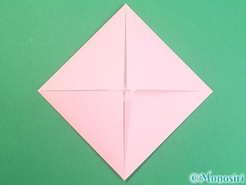 折り紙でふた付きの箱の折り方手順4