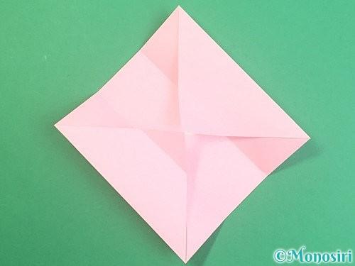 折り紙でふた付きの箱の折り方手順6
