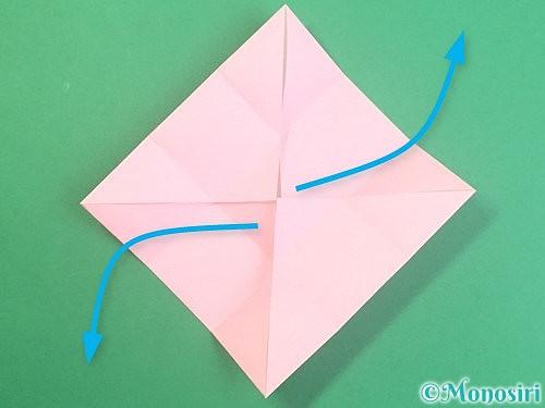 折り紙でふた付きの箱の折り方手順9