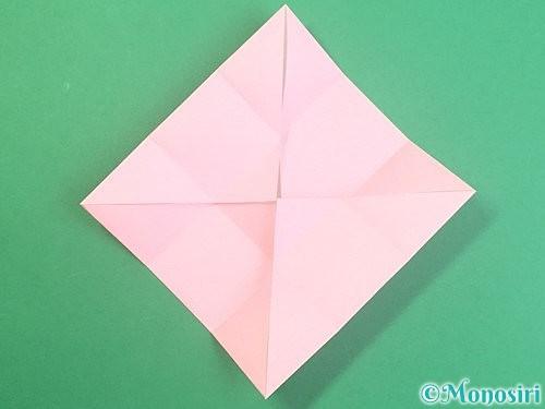折り紙でふた付きの箱の折り方手順8
