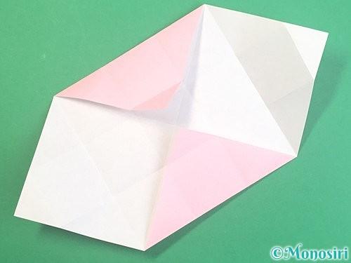 折り紙でふた付きの箱の折り方手順10