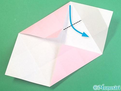 折り紙でふた付きの箱の折り方手順12