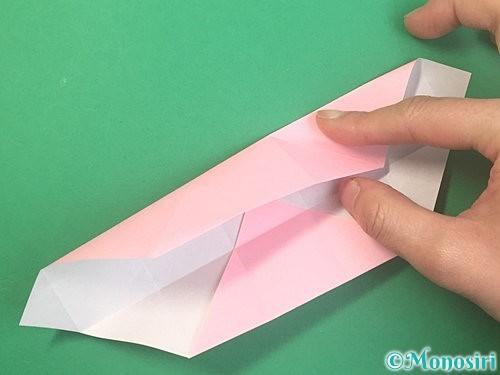 折り紙でふた付きの箱の折り方手順13
