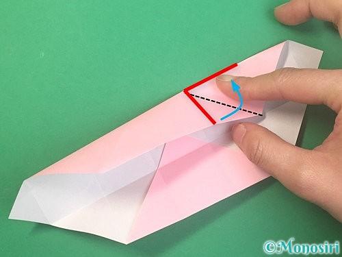 折り紙でふた付きの箱の折り方手順14