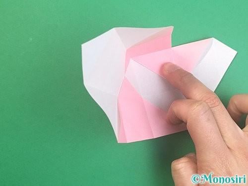 折り紙でふた付きの箱の折り方手順15