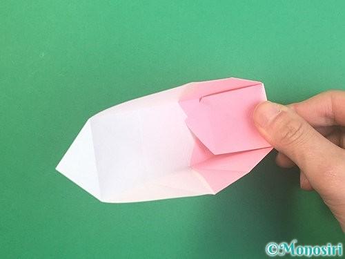 折り紙でふた付きの箱の折り方手順19