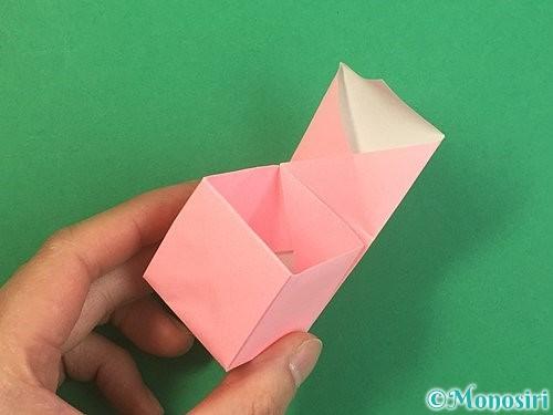 折り紙でふた付きの箱の折り方手順23