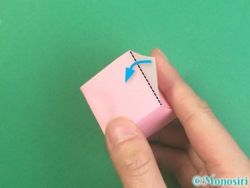 折り紙でふた付きの箱の折り方手順24