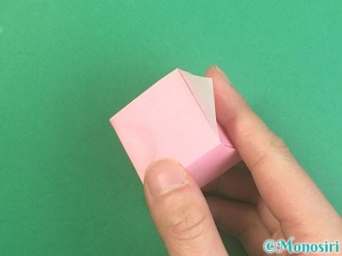 折り紙でふた付きの箱の折り方手順25
