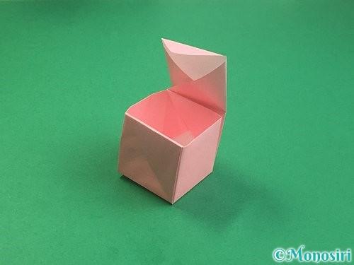 折り紙でふた付きの箱の折り方手順26