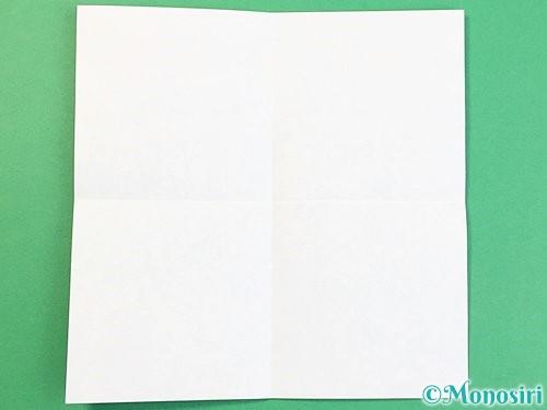 折り紙で富士山の折り方手順2