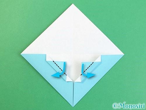 折り紙で富士山の折り方手順16
