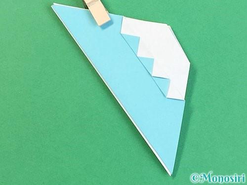折り紙で富士山の折り方手順30