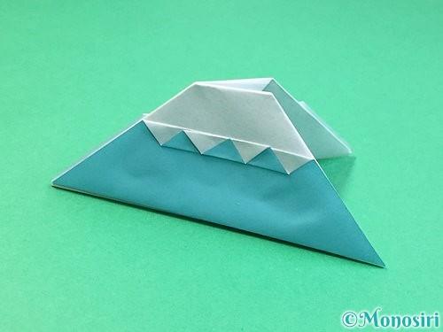 折り紙で富士山の折り方手順31