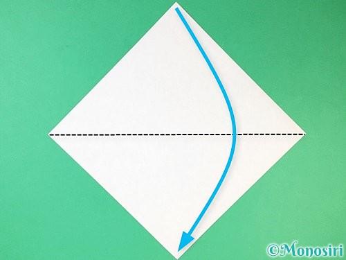 折り紙で猫の折り方手順1