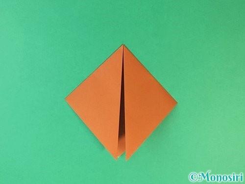 折り紙で猫の折り方手順4
