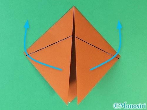 折り紙で猫の折り方手順5