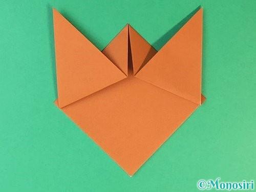 折り紙で猫の折り方手順6