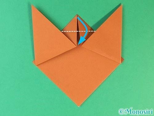 折り紙で猫の折り方手順7
